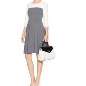 Kate Spade Dove Gray Olsen Color Block Dress Sz 6